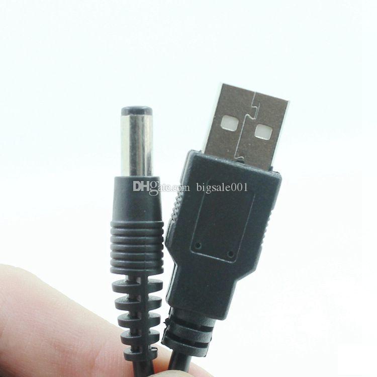 Cavo di ricarica USB da 1m 5.5mm * 2.1mm USB TO DC 5.5 * 2.1mm Cavo di alimentazione jack colore nero vendita calda