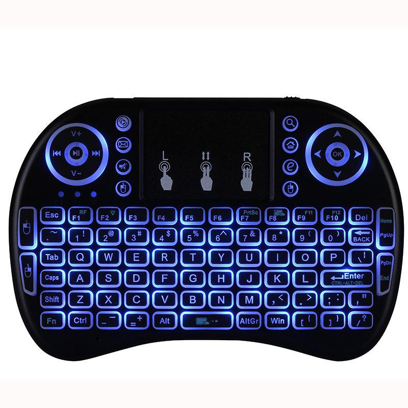 Rii I8 2.4 ГГц беспроводная мышь игровые клавиатуры белая подсветка многоцветная подсветка мыши пульт дистанционного управления для ТВ Android коробки MXQ PRO X96