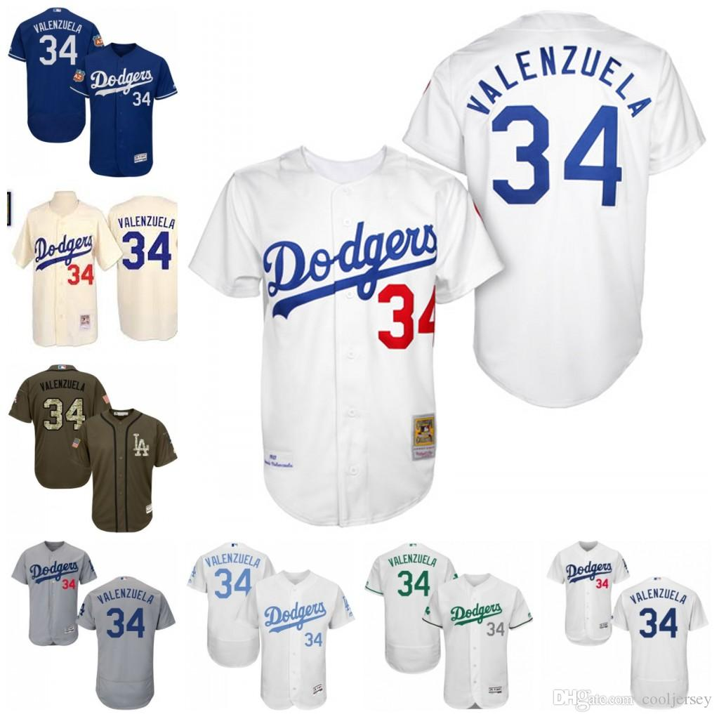 ... germany 2017 mens mitchell and ness los angeles dodgers jersey 34  fernando valenzuela authentic white blue 5e5846ae1