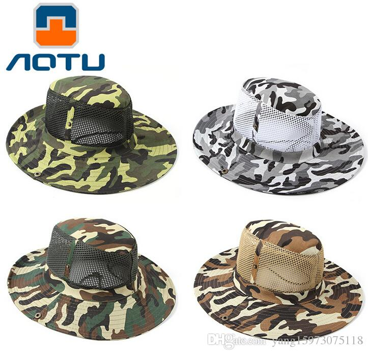 cd7c20d7 AOTU Camouflage Jungle Hiking Camping Hunting Fishing Mesh Cap Army Fans  Outdoor Sunscreen 112 Alpine Cap Fishing Hat Hats Online with $3.16/Piece  on ...