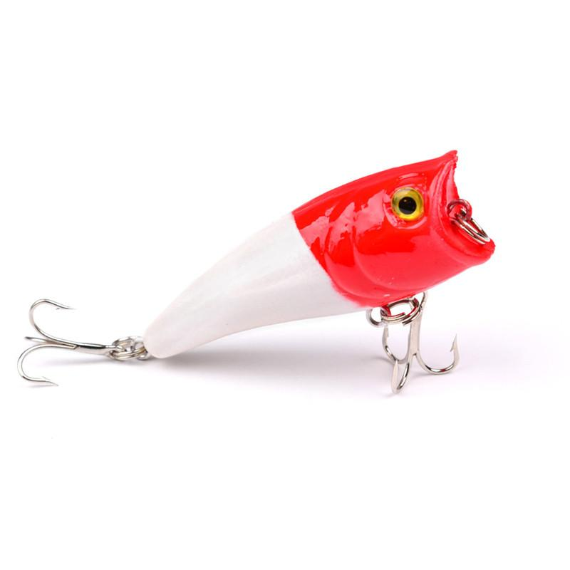 Hot selling PS Painted Bionic ABS Plastic Popper fishing lure 6cm 6.6g Fly fishing poper crankbait for bass fishing