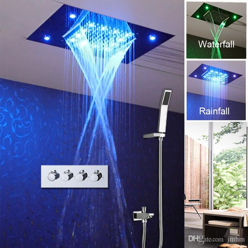 Waterfall Shower Head Set Ceiling Concealed