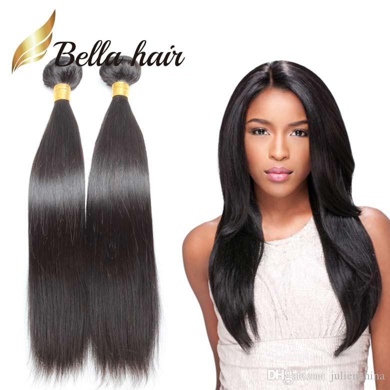 Bella Hairmixed Length Hair Weaves Peruvian Hair Extensions Double