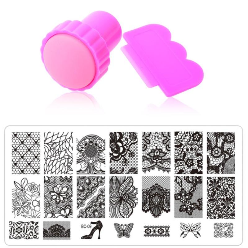 Nail Art Stamping,10Designs Stainless Steel Image Plates And Stamper ...