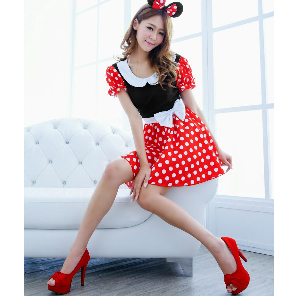 Hot Sexy Minnie Mouse Halloween Costume Girls Christmas Sexy ...