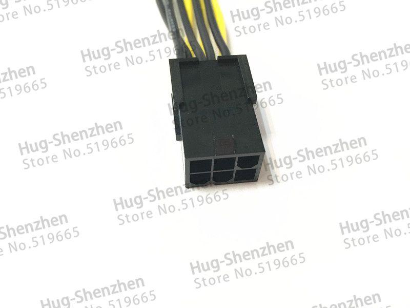 Commercio all'ingrosso 50 pz PCI-E PCIe PCI Express 6 pin 6 pin femmina a Pin 6 + 2 pin 8 pin maschio adattatore scheda video GPU cavo di alimentazione 18AWG