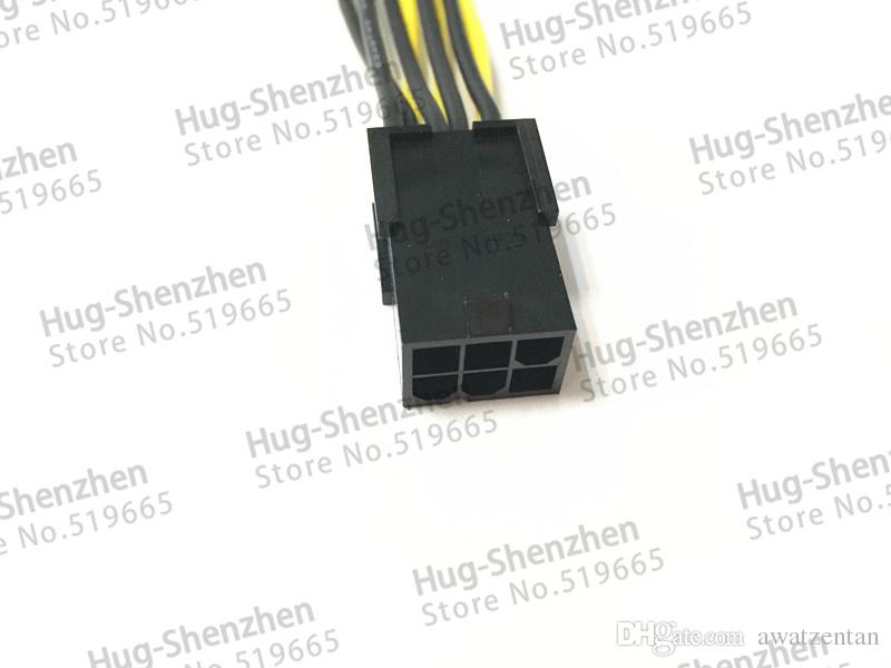 Großhandel 50 stücke PCI-E PCIe PCI Express 6Pin 6 pin buchse auf 8Pin 6 + 2 pin 8 pin Stecker Adapter GPU Grafikkarte Stromkabel 18AWG