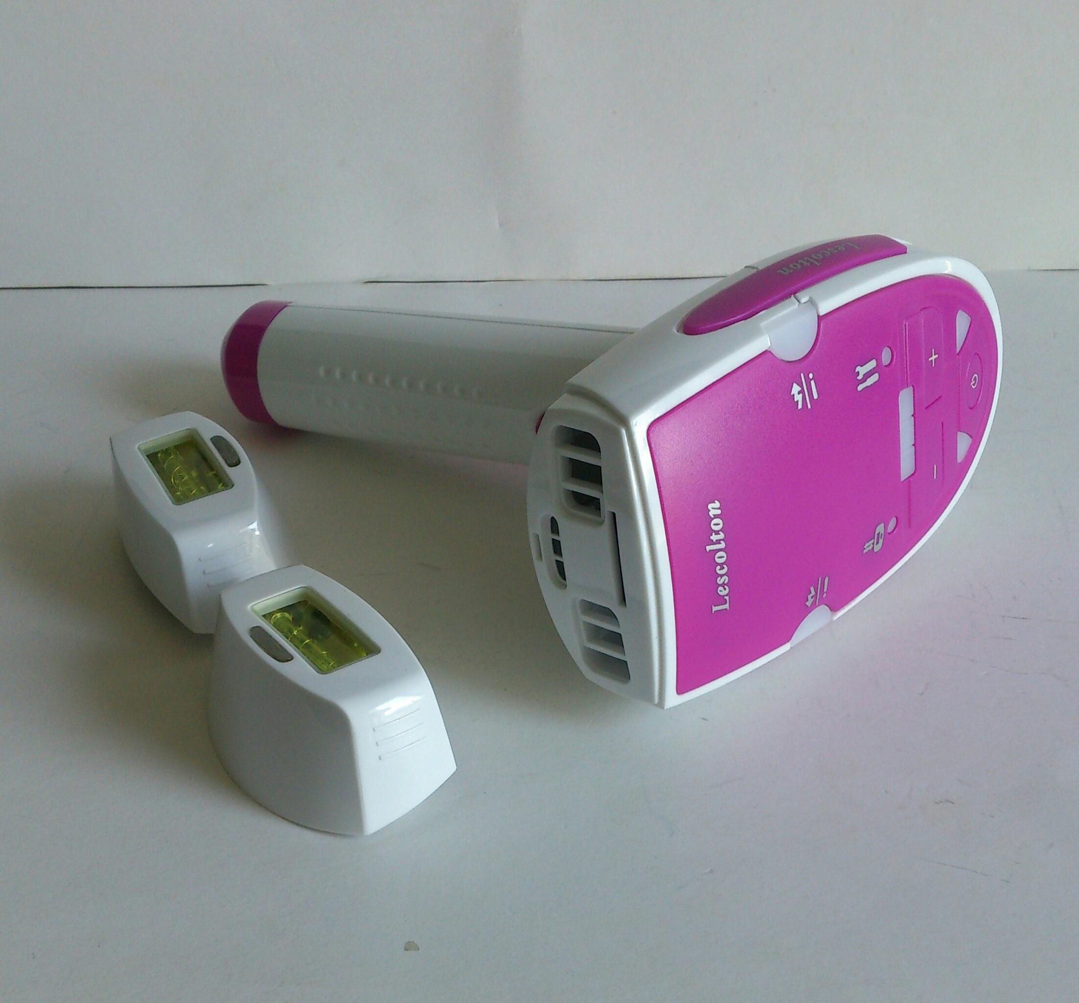 Laser-Haarentfernung System Epilierer Exklusives Haus gepulst LightTM Technologie Schnell Painless Dauerhafte Haarentfernung Grainer Rosa / Blue von D