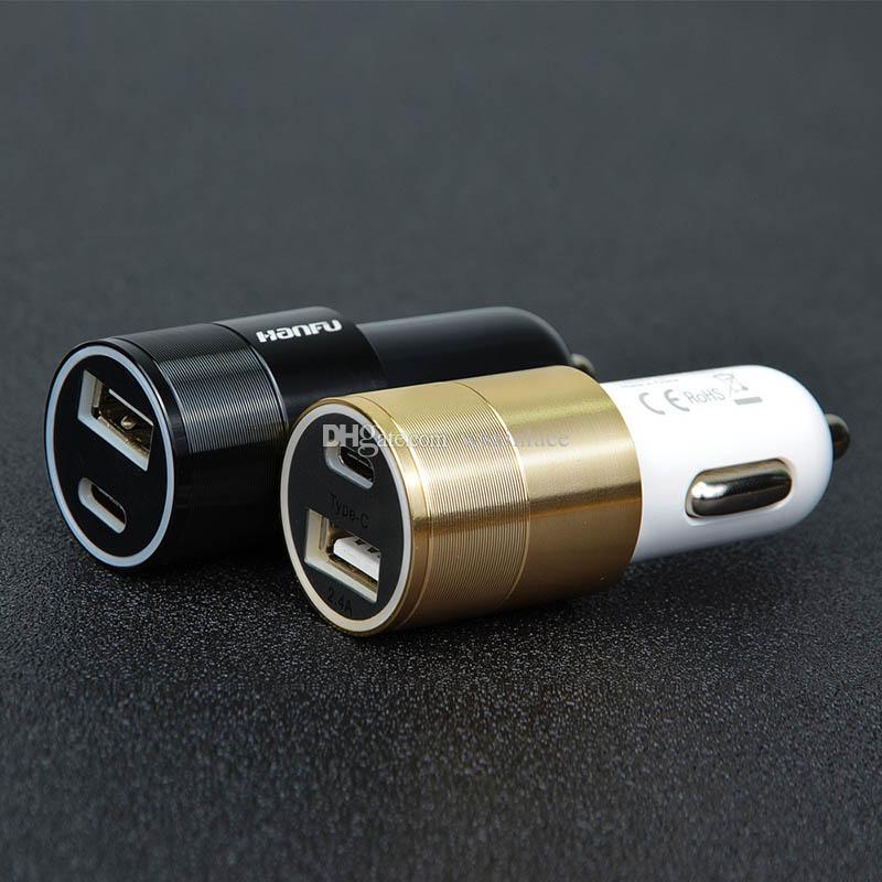 Caricabatteria da auto 5V 3.1A Caricabatteria rapido auto Dual Port Accendisigari iPhone Samsung Pad GPS
