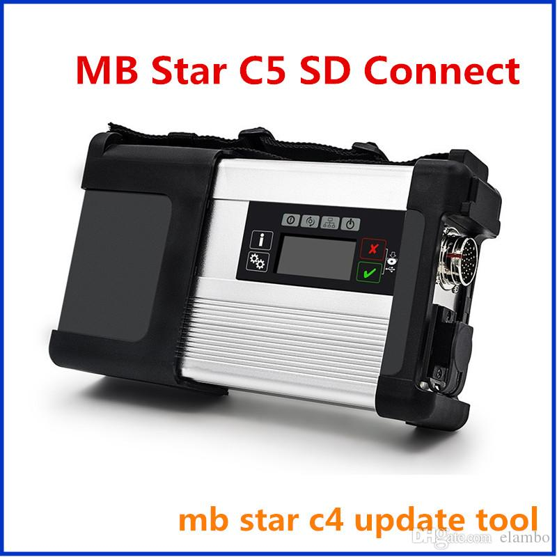 2017 Newest mb star c5 for car & truck diagnosis mb star sd connect c5 multiplexer with wifi+ 5 cables without software full set