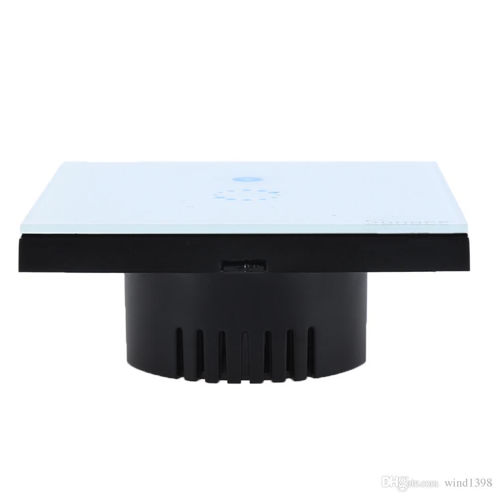 جودة عالية المنزل الذكي Itead Sonoff Touch Wifi Switch الاتحاد الأوروبي الولايات المتحدة ذكي ضوء اللاسلكية لوحة زجاج التبديل الذكية التحكم عن بعد عبر mobilePh