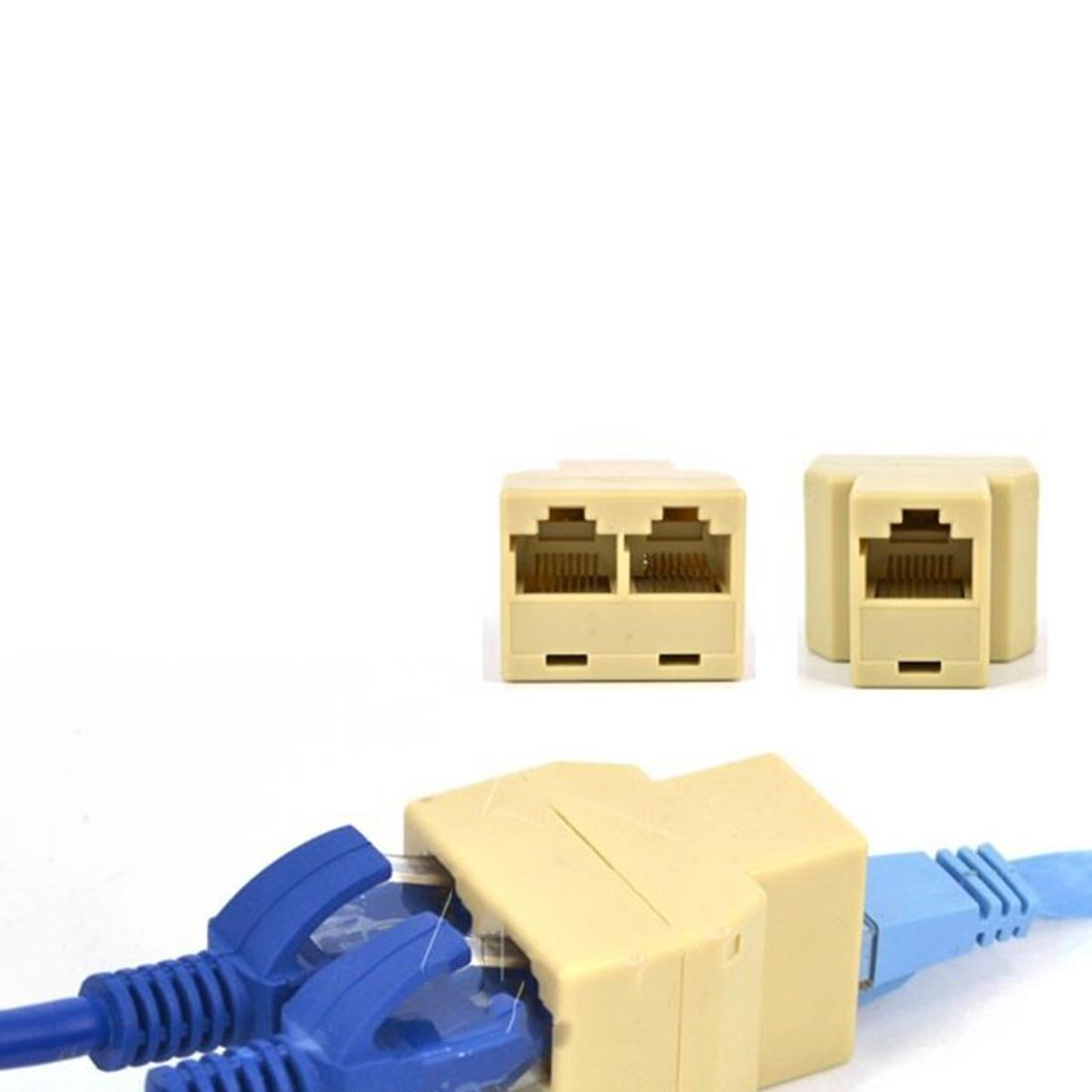 Wholesale New Rj45 Splitter Connector Cat5 Lan Ethernet Cat 5 Ends Wiring Adapter 8p8c Network Dual Cables Online Computer And Connectors From Wildeer