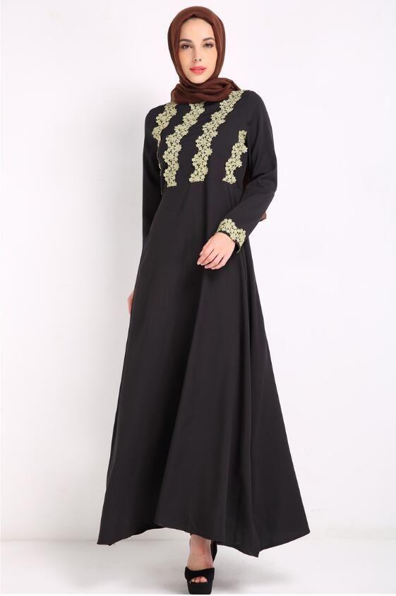 7820ce235af Acheter Malaisie Lady Abaya Vêtements Turquie Musulman Mode Femmes Broderie Robe  Islamique Jilbab Et Abayas Robes Robe Turc Musulmane Dubai Kaft De  21.11  ...