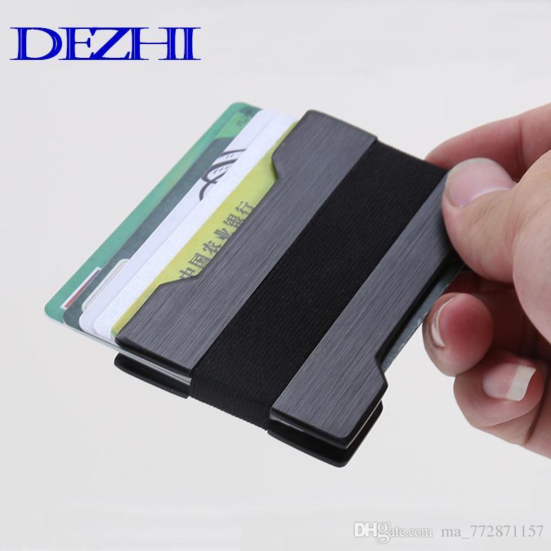 Aluminum Rfid Wallet Bank Id Business Credit Card Holder Mini Slim ...