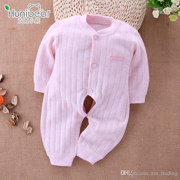 New born Rompers 2017 Baby Girl Clothes Long Sleeves Open The Crotch 1-12 Months Baby Romper boy Jumpsuit Newborn clothing infant Unisex