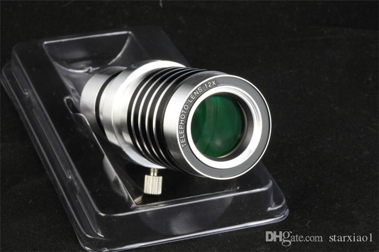 12X Optical Mobile Phone Camera Lens for iphone for Samsung with Tripod Fish Eye Telephoto Lens