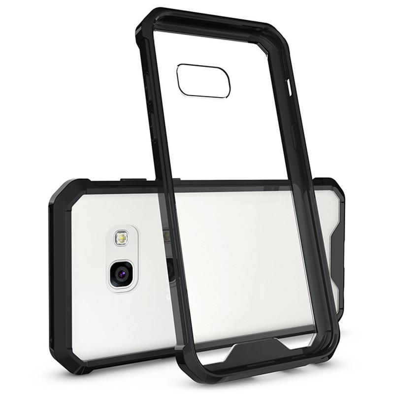 Für samsung a3 (2017) case transparent klar hybrid bumper stoßfest rückseitige abdeckung telefon zubehör für samsung galaxy a3 a5 a7 (2017)