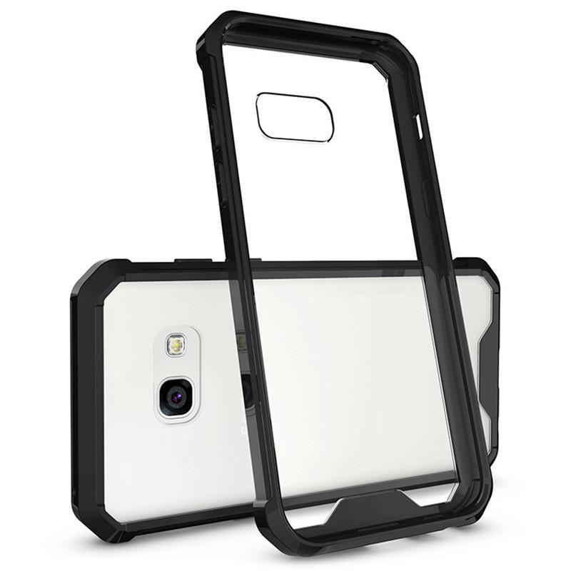 Samsung A3 için (2017) Kılıf Şeffaf şeffaf Hibrid Tampon Darbeye Arka Kapak Telefon Aksesuarları Için Samsung Galaxy A3 \ A5 \ A7 (2017)