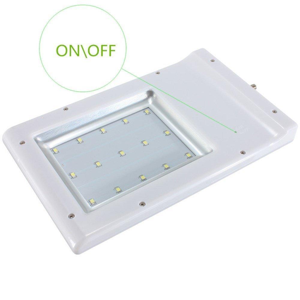 15 LED 2835 SMD Solar Sensor Wall Street Light Waterproof Outdoor Garden Lamp Lighting Lantern Sconce