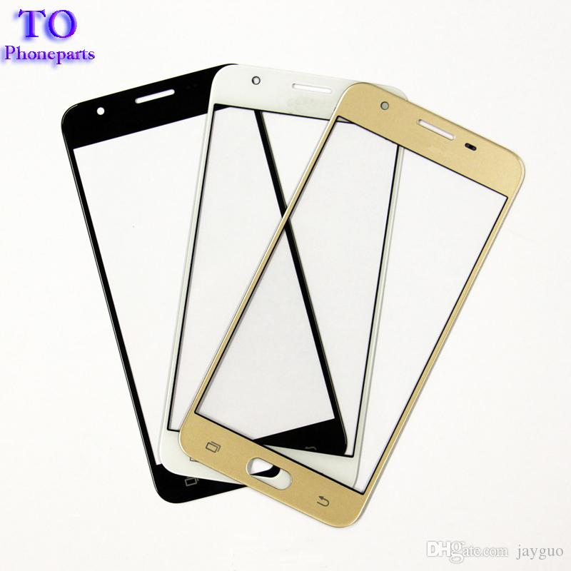 Replacement Parts for Samsung Galaxy J5 Prime ON5 G5500 J7 Prime ON7 G6000 Front Outer Screen Glass Lens Cover white black gold