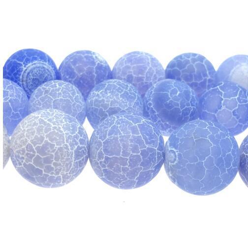 الجملة حار بيع 4-14 ملليمتر الأزرق الصقيع متصدع حلم النار التنين الأوردة العقيق الأزياء والمجوهرات جعل الجزع الخرز NF-09