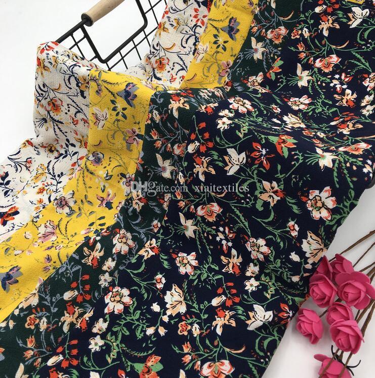 d01d11fbb8 2019 Wholesale 4colour New Paris Bead Flower Chiffon Polyester Fabric  Dresses