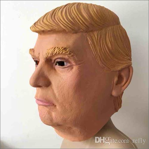 Presidente degli Stati Uniti Donald Trump Latex Mask Full Face Mask Costume Party Mask Maschera di Halloween Overhead Maschera di buona qualità