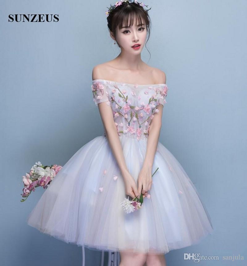 Short Sleeve Short Prom Dress