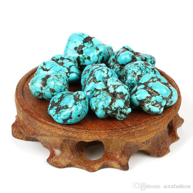 20-25mm Irregular Natural Stone Gravel Beads Turquoise Beads for Necklace Bracelet Craft Making Findings Freeform Howlite Loose Bead