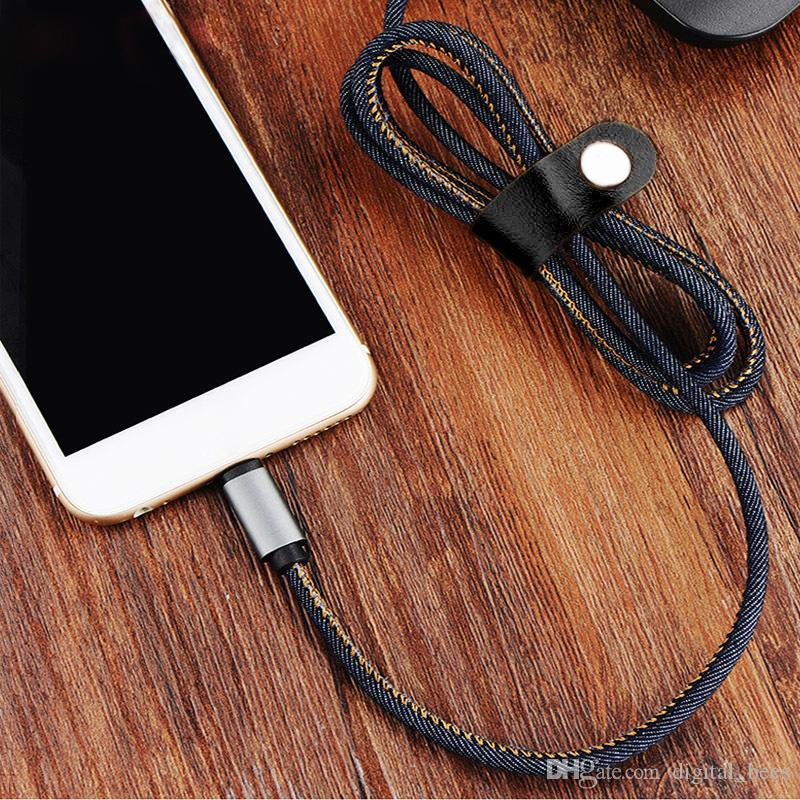 Cowboy Cable Charging Line Fast Speed Data 1mm USB for 6G 7G Micro for Smartphone High Speed New Product