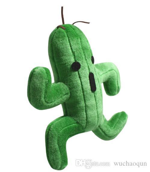 Atacado - Final Fantasy Sabotender Cactuar brinquedos de pelúcia boneca 25 cm brinquedo de pelúcia macia pelúcia kawaii Animal brinquedos para crianças presentes