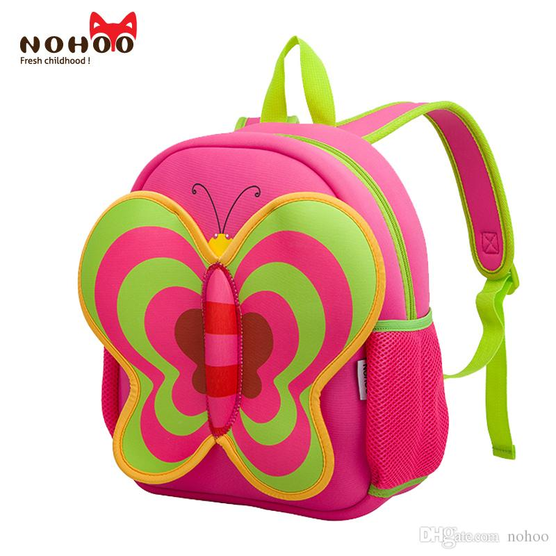 School Backpacks For Teenage NOHOO Butterfly Waterproof Neoprene Children  School Bags Cartoon Animals Girls Large Capacity Baby Backpack Best Laptop  ... 052b6016e2b35