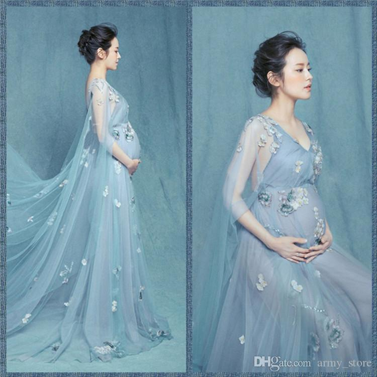 Online Cheap 2017 Maternity Photography Props Pregnant Dress Women ...
