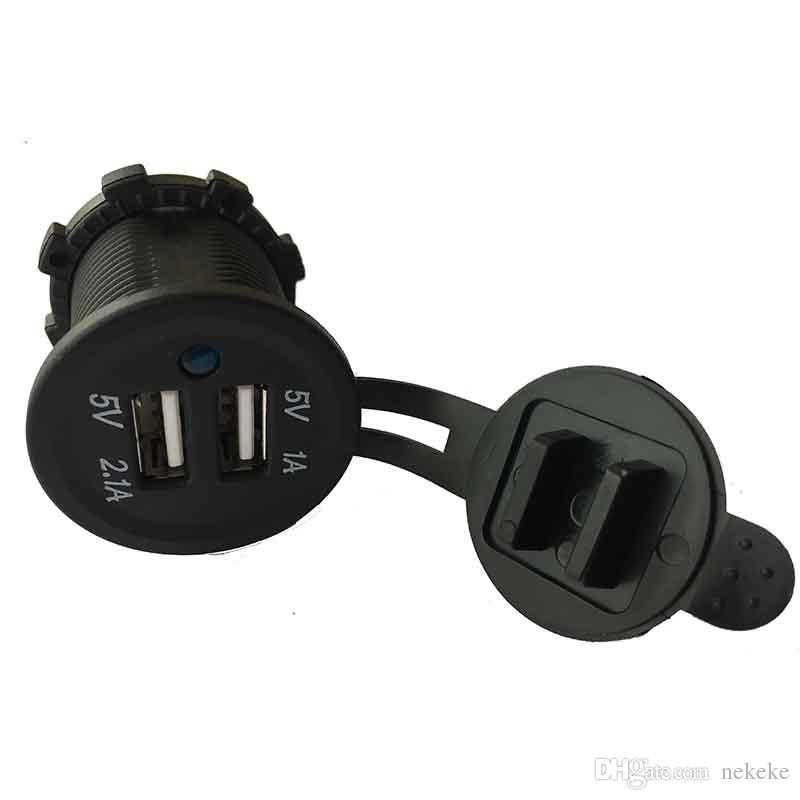 Waterproof USB Charger Adapter 12V-24V Input Voltage Socket 12-24V Outlet Power Jack Marine Motorcycles by Generic
