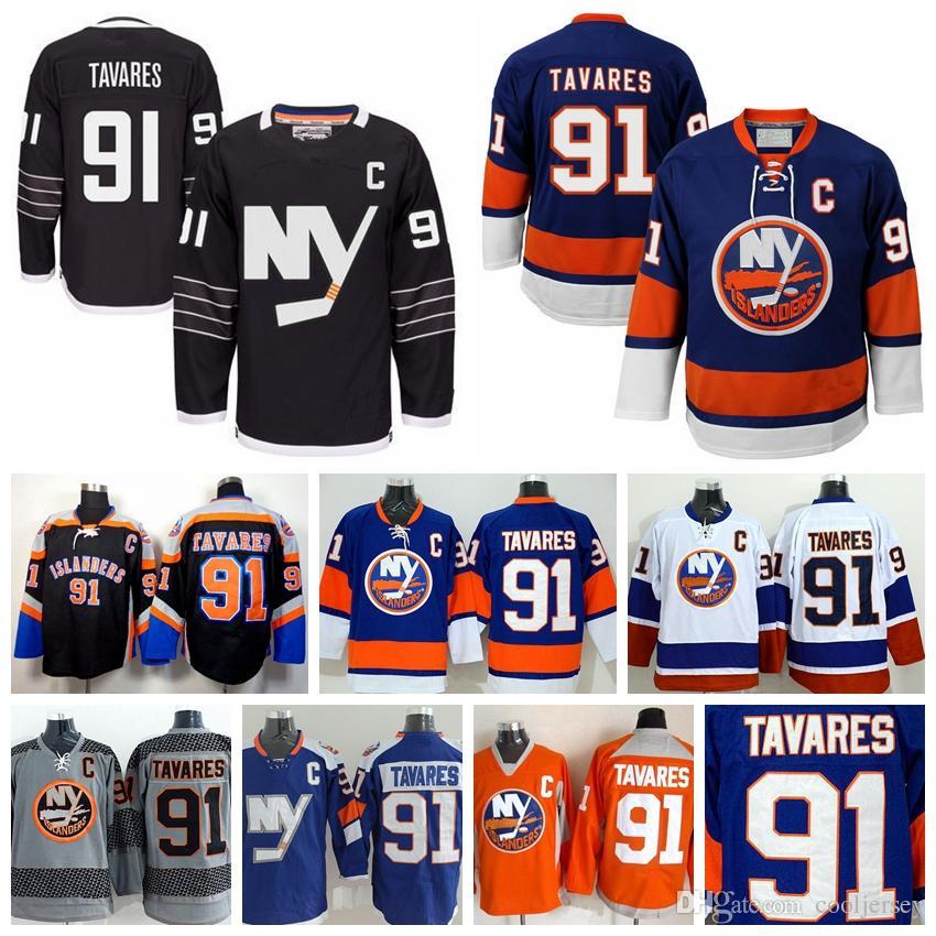 2019 2016 New York Islanders Jerseys John Tavares Jersey Ice Hockey 91  Black Premier Alternate Royal Blue Cross Check Stadium Series From  Cooljersey 3c7ae41e7