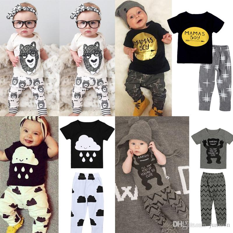 84c2fc12e 2019 Boys Ins Fashion Letter T Shirts Childrens Clothing Outfits ...