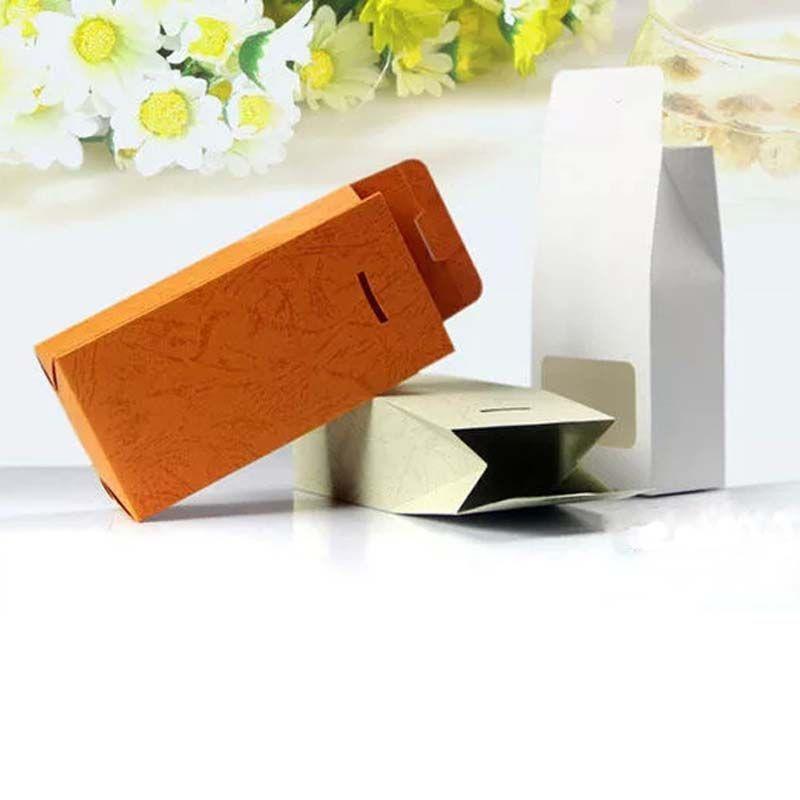 8x15.5x5 سنتيمتر 50 قطع إغلاق موقف ملون أكياس كرافت مع نافذة واضحة اللون كرافت ورقة التغليف الشاي هدايا كاندي صندوق الزفاف