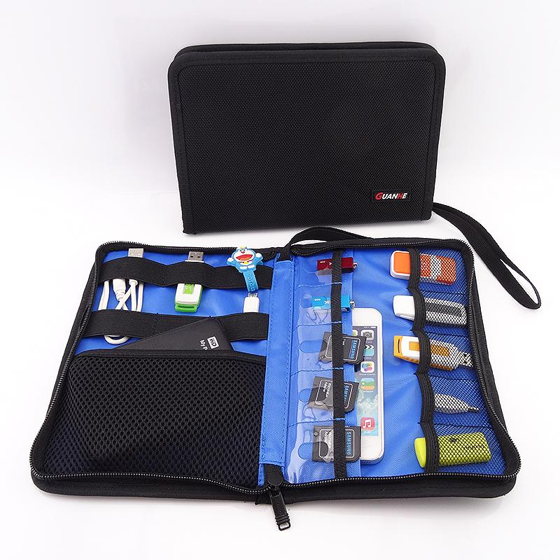 daf1a36a5248 Wholesale- Foldable Digital Organizer Roll UP Winder Earphone ...