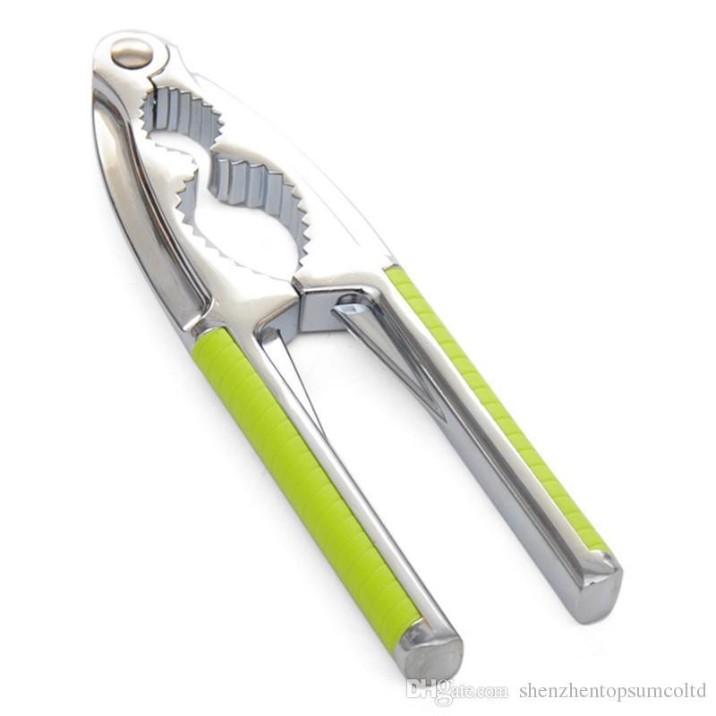 Wielofunkcyjna narzędzie kuchenne Nakrętka Cracker Sheller Walnut Cracker Szczypce Otwieracz Metalu Narzędzie Ze Stali Nierdzewnej Nutcracker