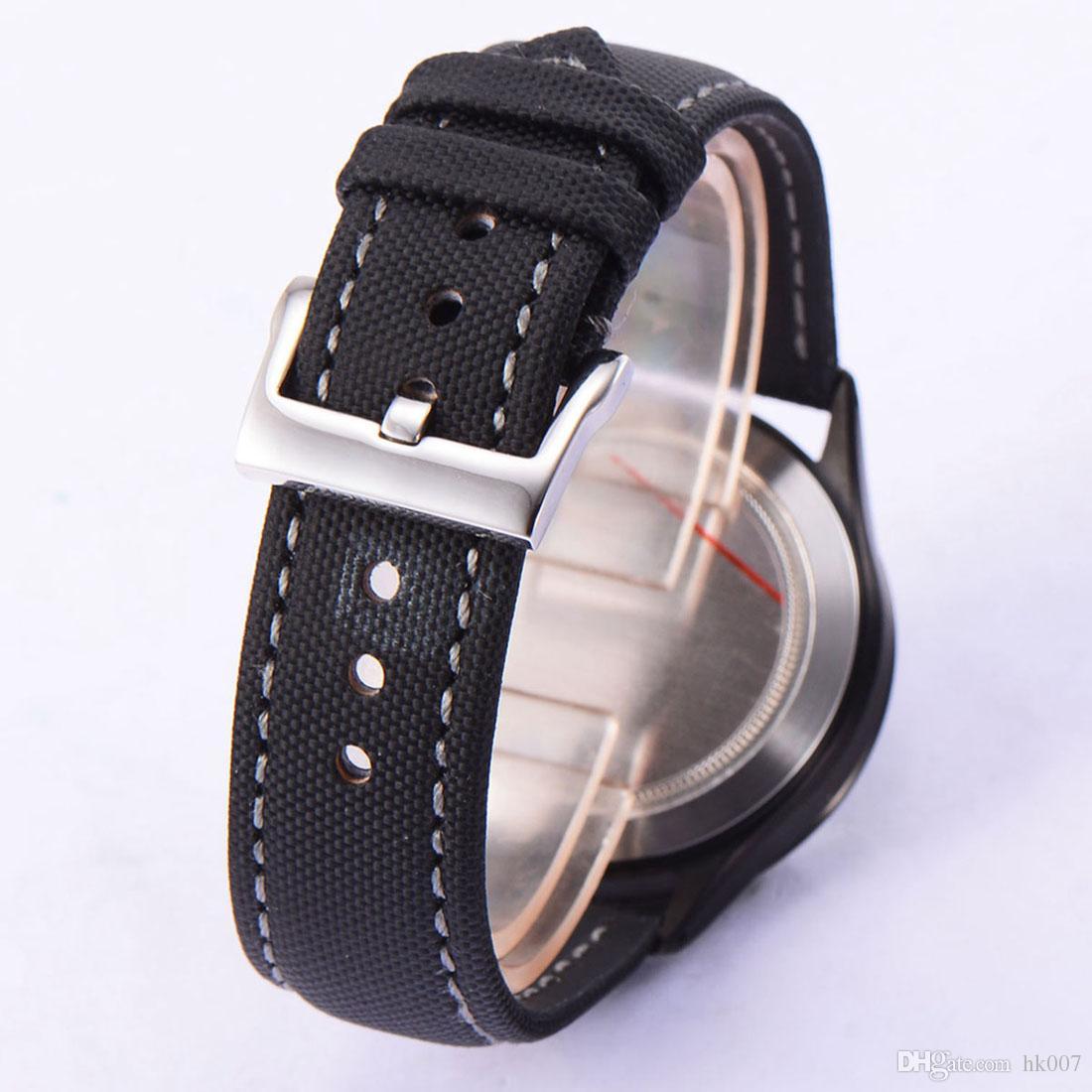 41 milímetros Corgeut DateDay Sapphire Vidro Movimento automático dos homens Assista