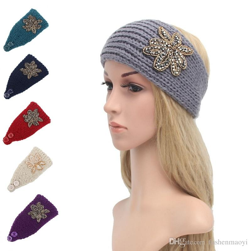 2019 Women Fashion Hair Jewelry Wool Crochet Headbands Knit Hair
