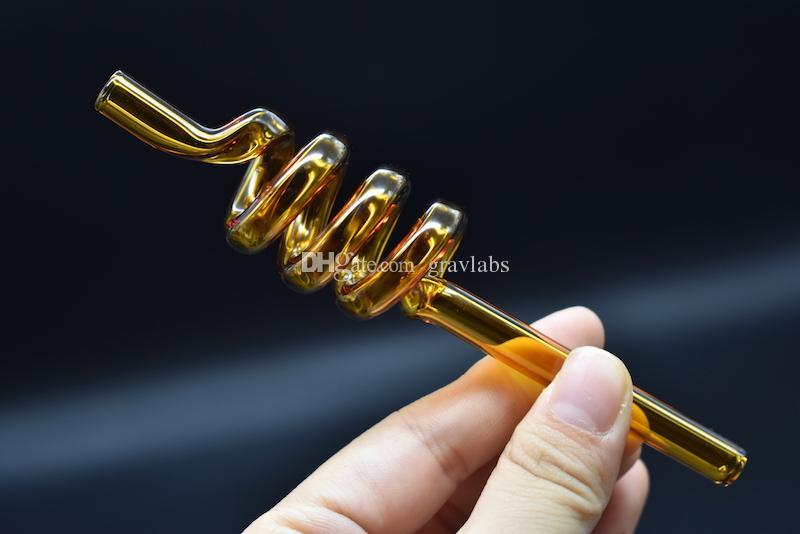 Buntes dickes berauschendes billiges S-Rohr des geraden Handrohrs des Spiralöls des scharfen Rohres für das Rauchen der kleinen tragbaren Wasserrohre
