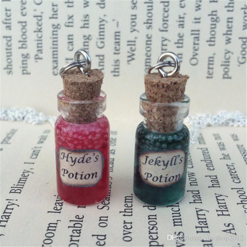 12pcs/lot Jekyll's , Hyde's Potion and Blood Bottle Necklace Pendant inspired by Jekyll and Hyde