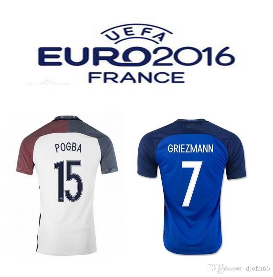 446d2d50bf6c ... canada top thai quality 16 17 euro france home soccer jersey blue  maillot foot griezmann pogba