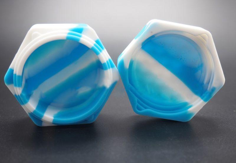 Silikon-Antihaft-Gläser Tupfen-Behälter-Honigbienen-Silikon-Kasten für Zerstäuber-Öl Solides 26ml FDA-Nahrungsmittelgrad-Silikon-Kasten-Wachs-Behälter