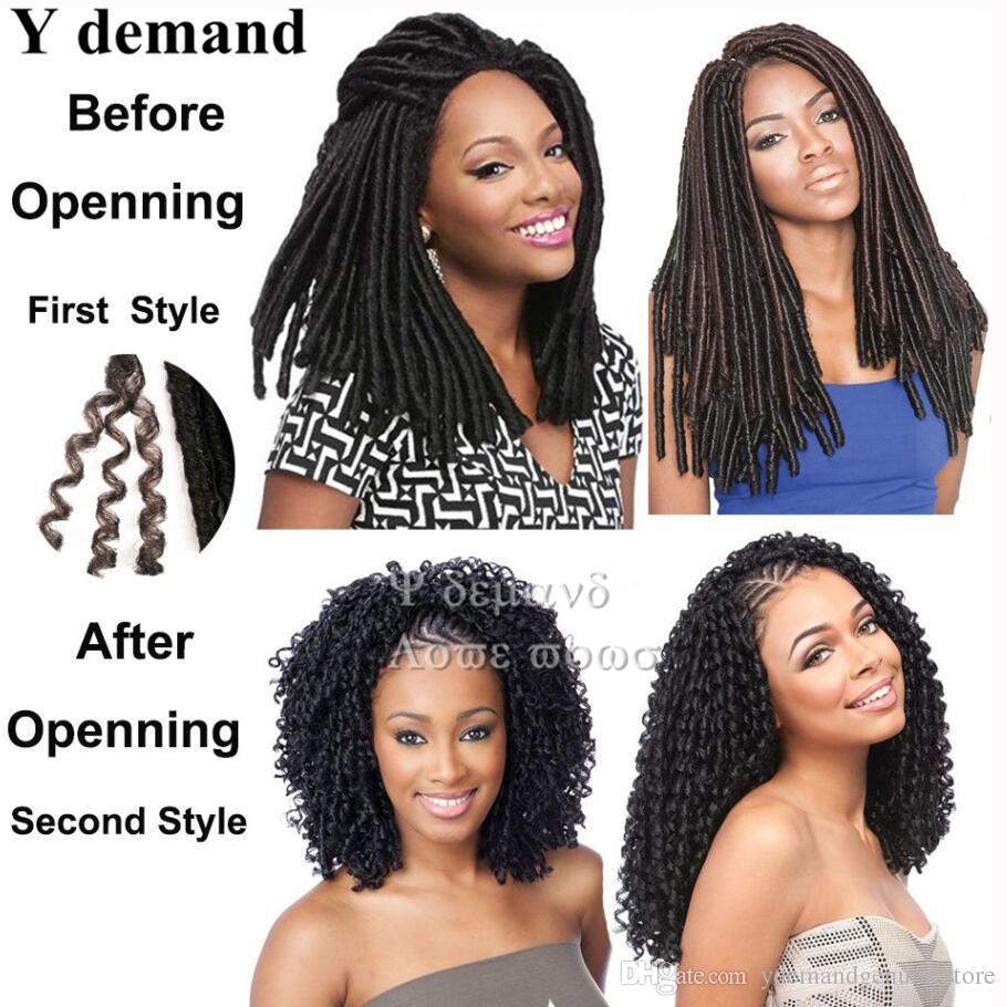 "100g 18"" Faux Locs Braid Hair Extensions Burgundy Color 100% Kanekalon Crochet Twist Braids Synthetic Soft Dread Locks Y demand"