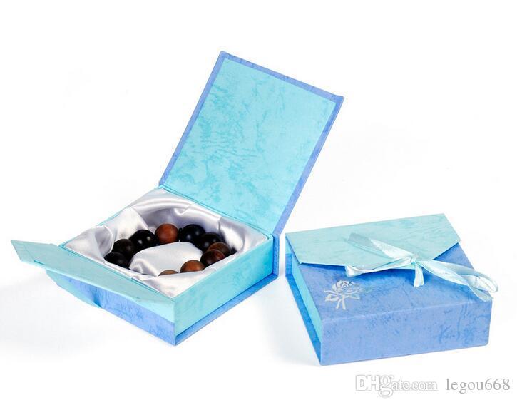 Papel de cartón de moda aleatorio Papel al por mayor 9 * 9cm Caja de joyería de joyería Caja de pulsera Regalo de embalaje Banco de brazalete G195