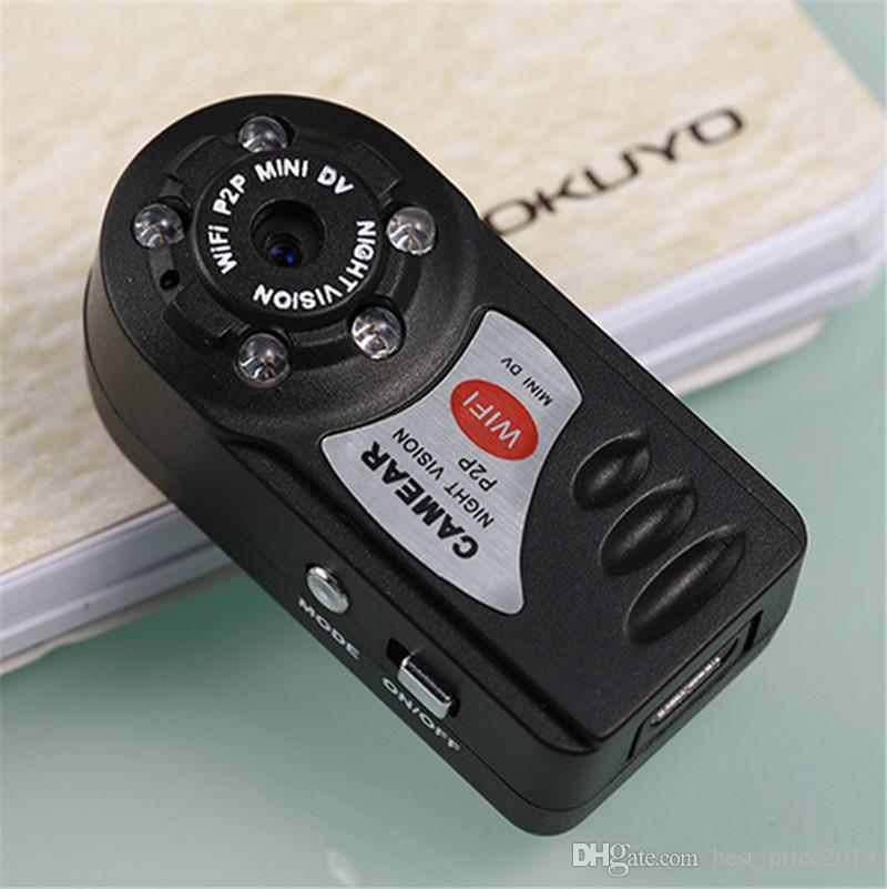 2018 Hot Q7 Mini Wifi DVR Sans Fil IP Caméscope Enregistreur Vidéo Caméra Infrarouge Vision Nocturne Caméra Détection de Mouvement Microphone Intégré