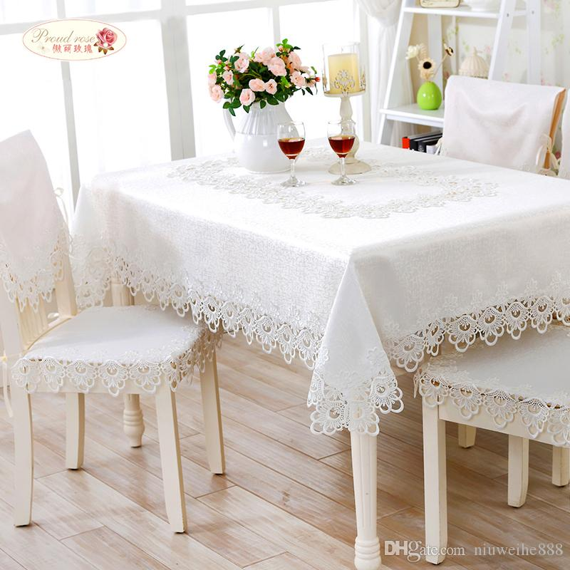 european white embroidered round tablecloth pure color hollow out lace tea table cloth simple tablecloth tablecloth fabric discount table linens from