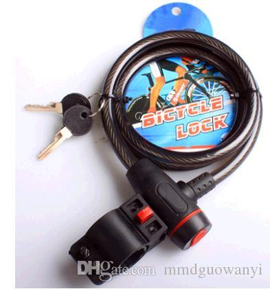 الأمن العام دراجة قفل الأسود سلسلة الدراجة الجبلية يلقي الصلب قفل مفتاح القفل